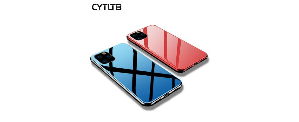 For iPhone 11 pro Max Tempered Glass Case Cover Mobile Phone Case