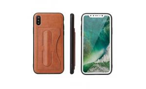 HighQualityPULeatherCellPhoneCaseForIphoneXQuickStandCardWalletLeatherCaseCoverMOQ10pcs/color/modelMaterialPU+PCColorBlack/Red/Green/CoffeeFunctionKickstand, ProtectandDecorateCellPhoneCompat